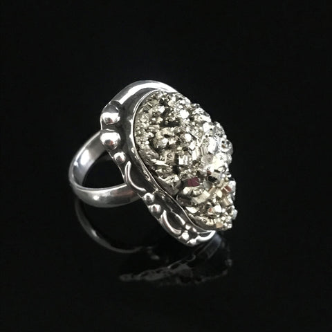 Natural Druzy Ring # Adj