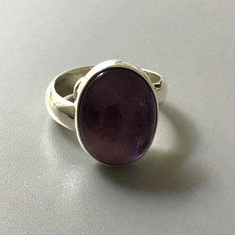 Circle Amethyst Ring #Adj