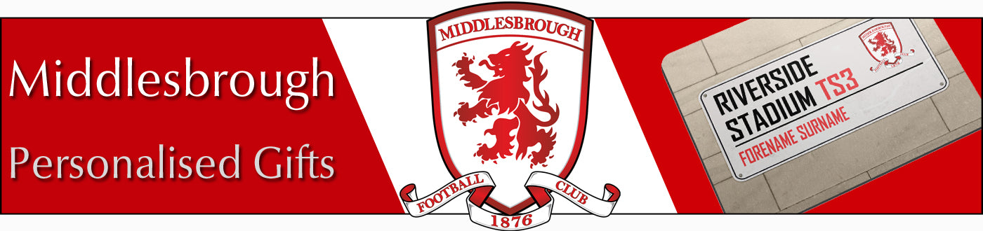 Middlesbrough FC Personalised Gifts