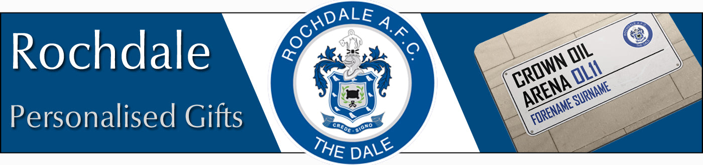 Rochdale FC Personalised Gifts