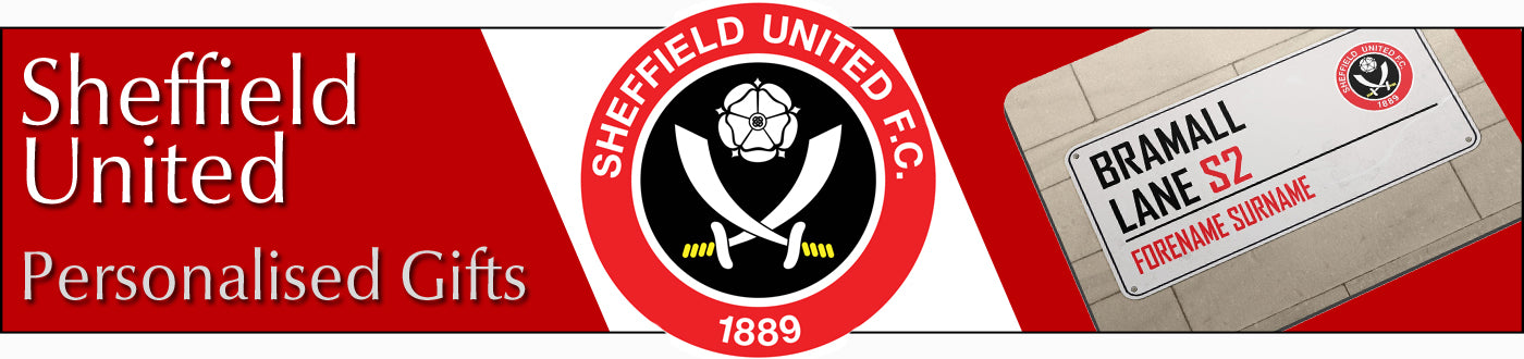Sheffield United Gifts. Personalised Official Licenced Football Merchandise