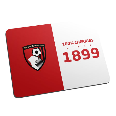 AFC Bournemouth 100 Percent Mouse Mat - Official Merchandise Gifts