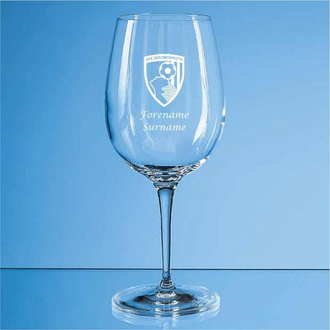 AFC Bournemouth Crest Allegro Wine Glass - Official Merchandise Gifts