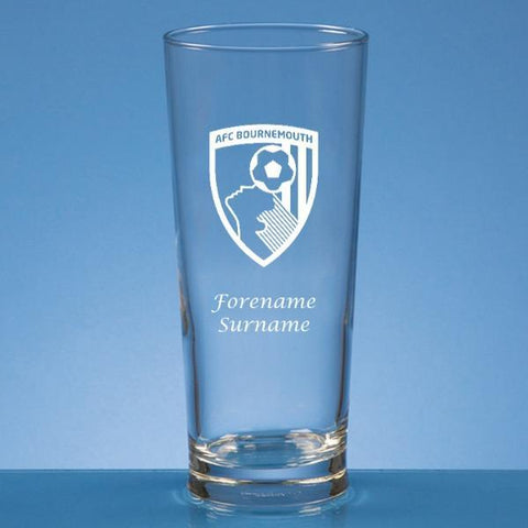 AFC Bournemouth Crest Beer Glass - Official Merchandise Gifts