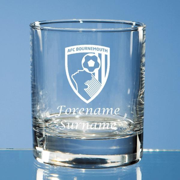 AFC Bournemouth Crest Whisky Tumbler - Official Merchandise Gifts