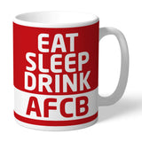 AFC Bournemouth Eat Sleep Drink Mug - Official Merchandise Gifts