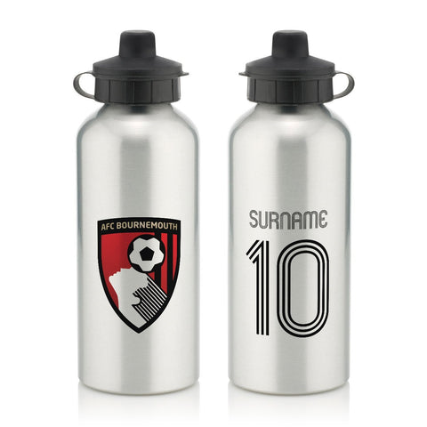 AFC Bournemouth Retro Shirt Water Bottle - Official Merchandise Gifts