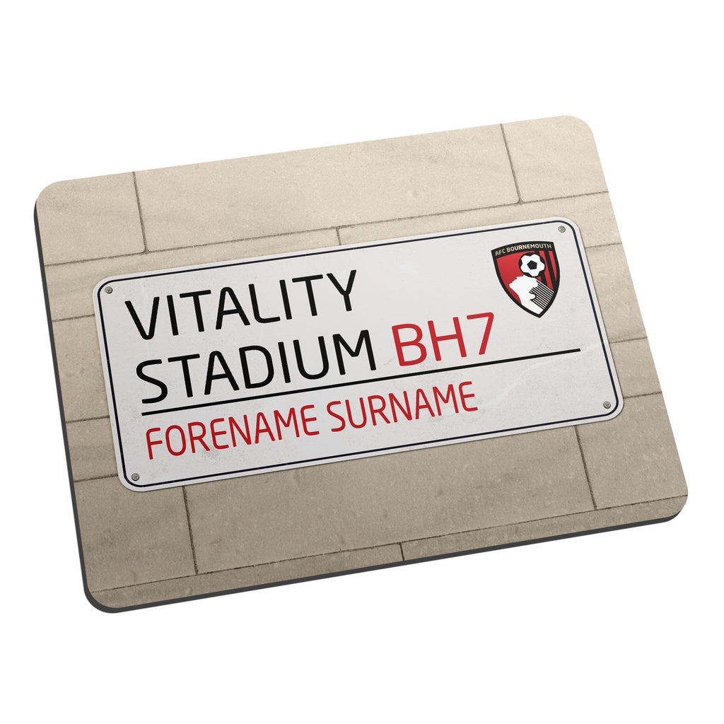 AFC Bournemouth Street Sign Mouse Mat - Official Merchandise Gifts