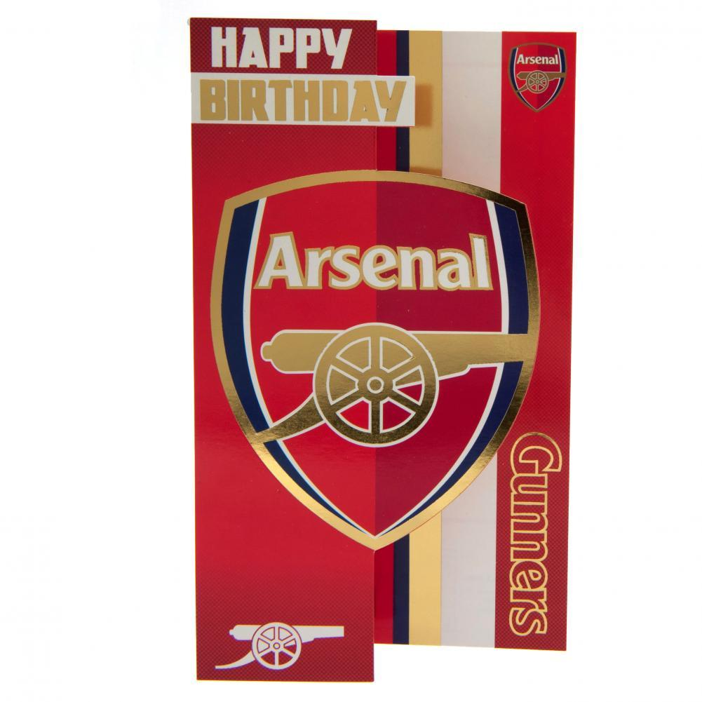 Arsenal FC Birthday Card, Greeting & Note Cards by Glamorous Gifts