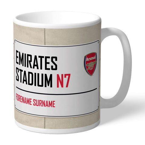 Arsenal FC Street Sign Mug - Official Merchandise Gifts
