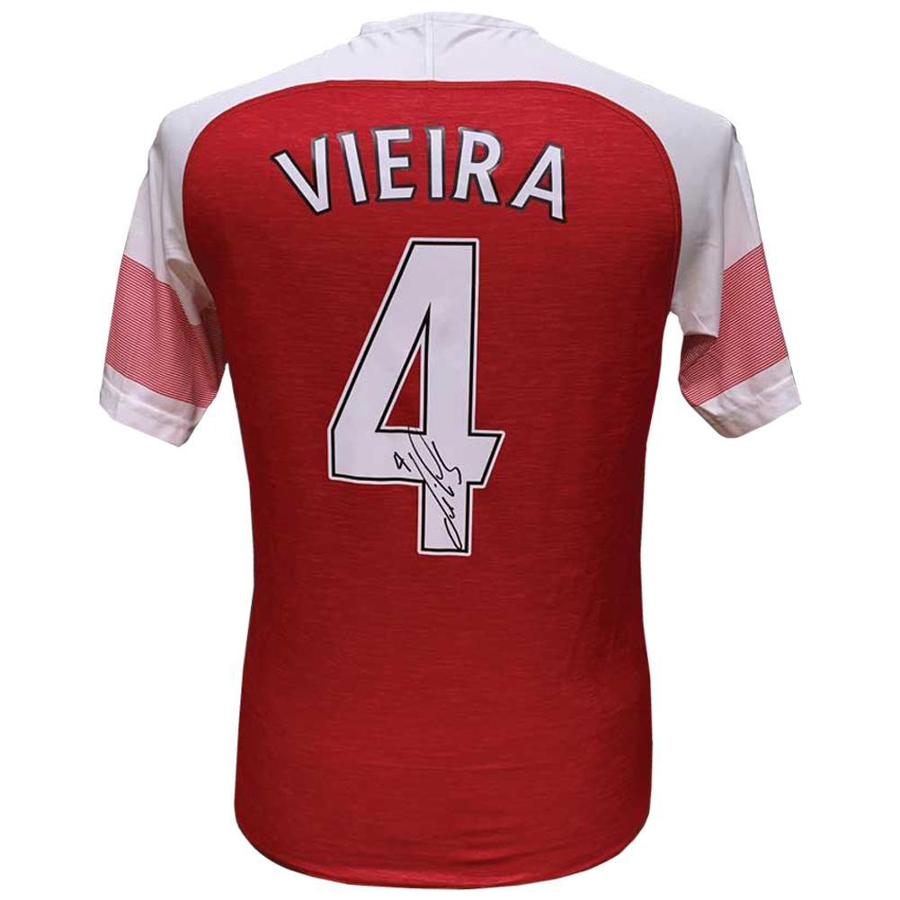 Arsenal FC Vieira Signed Shirt, Autographed Sports Paraphernalia by Glamorous Gifts