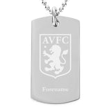 Aston Villa FC Crest Dog Tag Pendant - Official Merchandise Gifts
