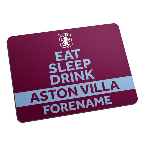 Aston Villa FC Eat Sleep Drink Mouse Mat - Official Merchandise Gifts