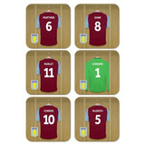 Aston Villa FC Legends Goalkeeper Dressing Room Coasters - Official Merchandise Gifts