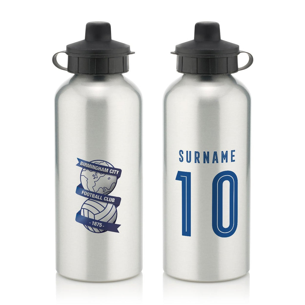 Birmingham City Retro Shirt Water Bottle - Official Merchandise Gifts