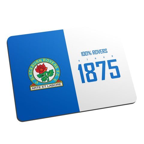Blackburn Rovers FC 100 Percent Mouse Mat - Official Merchandise Gifts