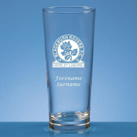 Blackburn Rovers FC Crest Beer Glass - Official Merchandise Gifts