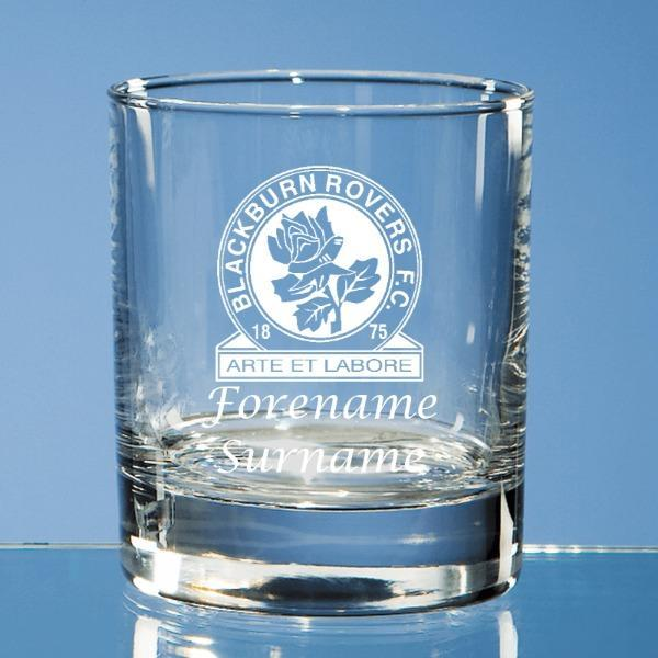 Blackburn Rovers FC Crest Old Fashioned Whisky Tumbler - Official Merchandise Gifts
