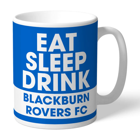 Blackburn Rovers FC Eat Sleep Drink Mug - Official Merchandise Gifts