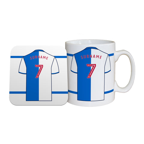 Blackburn Rovers FC Shirt Mug & Coaster Set - Official Merchandise Gifts