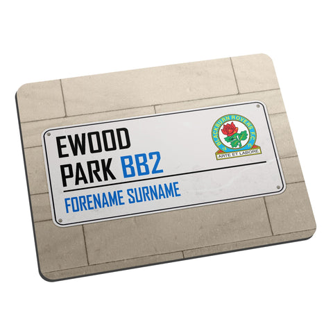 Blackburn Rovers FC Street Sign Mouse Mat - Official Merchandise Gifts