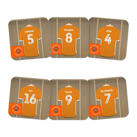 Blackpool FC Dressing Room Coasters - Official Merchandise Gifts