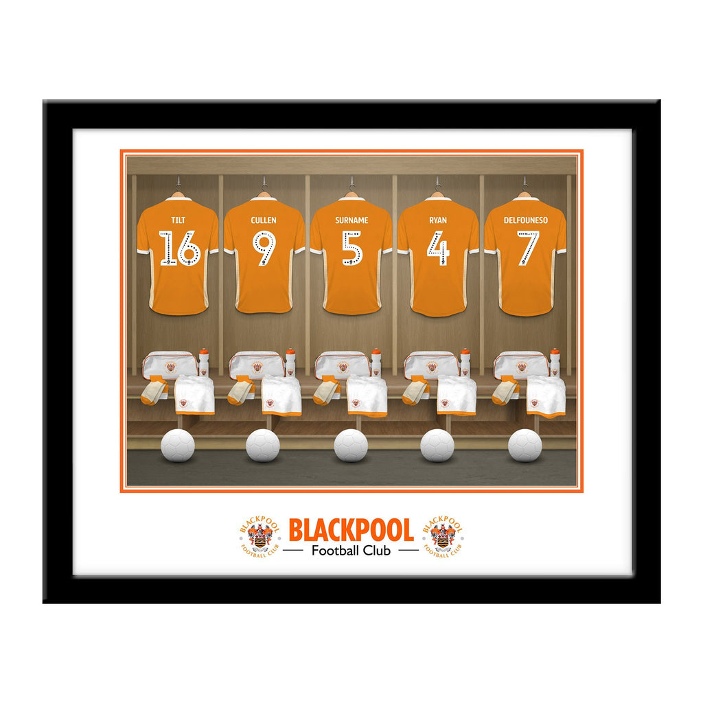 Blackpool FC Dressing Room Framed Print - Official Merchandise Gifts