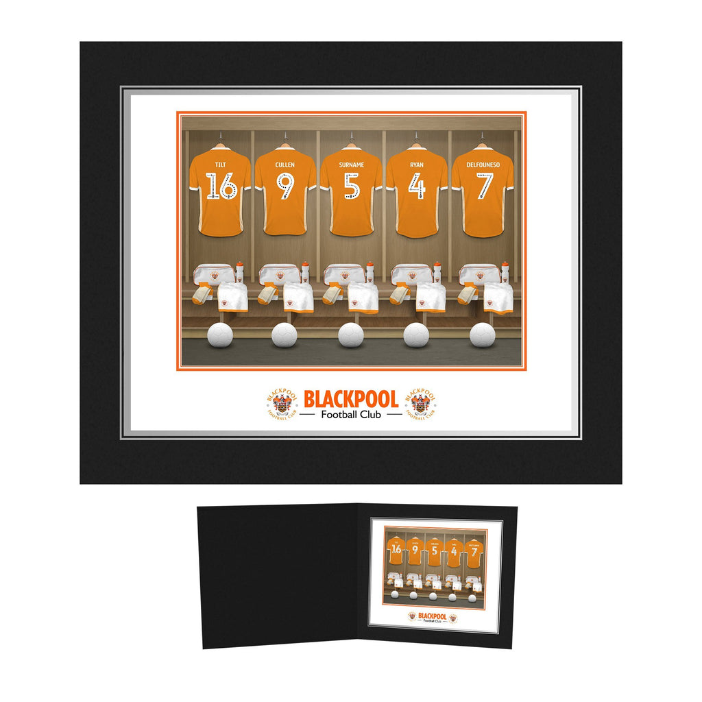Blackpool FC Dressing Room Photo Folder - Official Merchandise Gifts