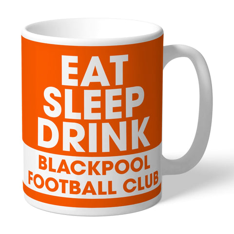 Blackpool FC Eat Sleep Drink Mug - Official Merchandise Gifts