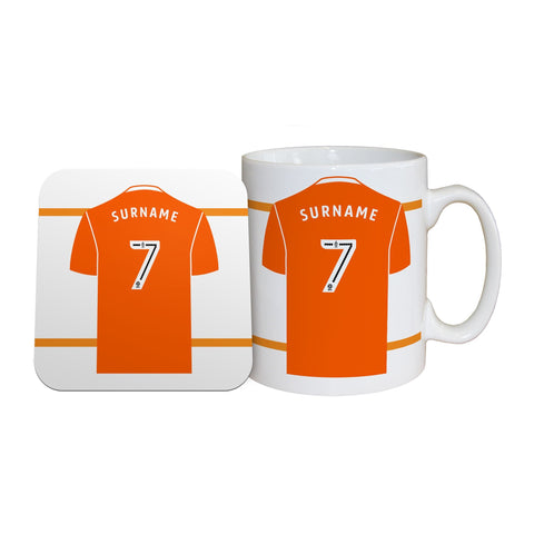 Blackpool FC Shirt Mug & Coaster Set - Official Merchandise Gifts