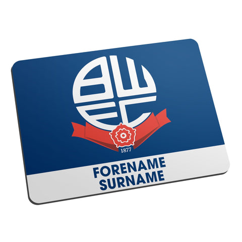 Bolton Wanderers Bold Crest Mouse Mat - Official Merchandise Gifts