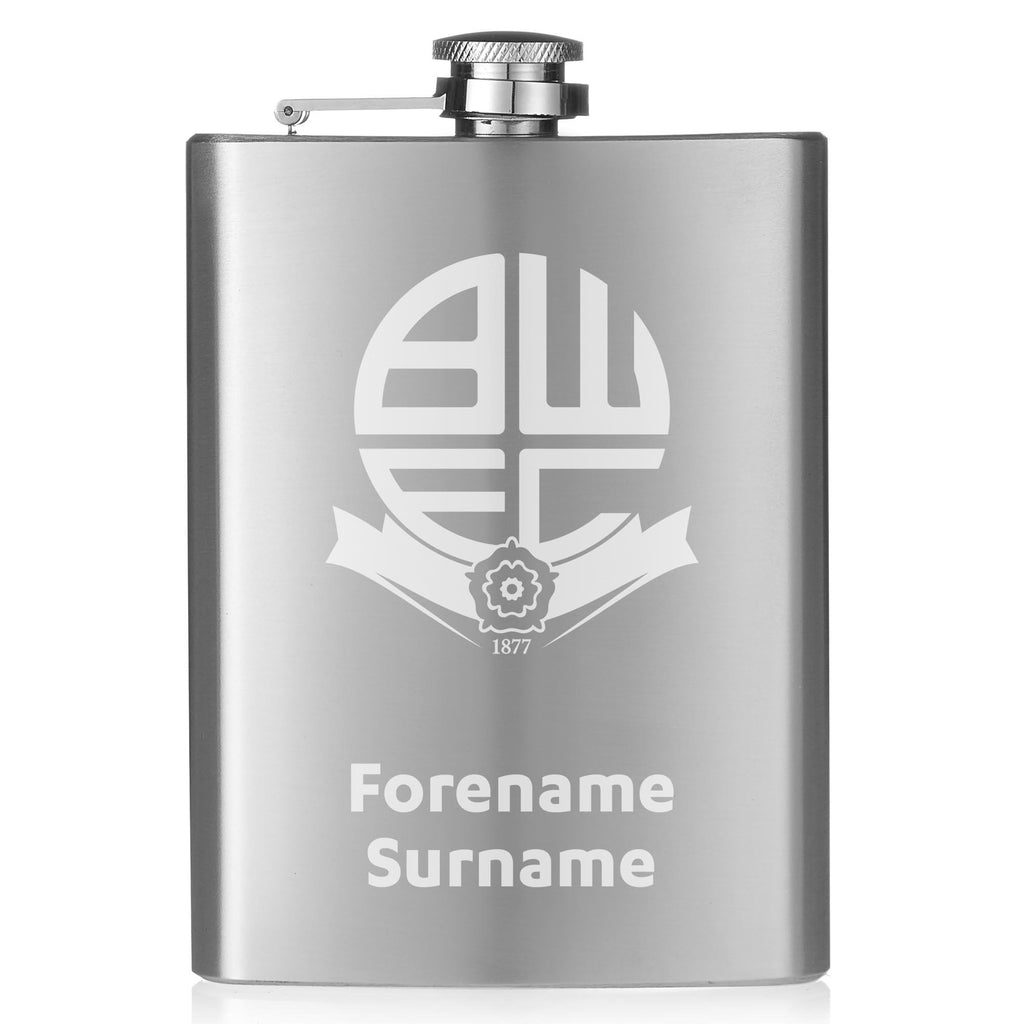 Bolton Wanderers FC Crest Hip Flask - Official Merchandise Gifts