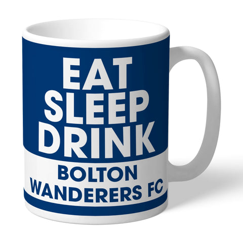 Bolton Wanderers FC Eat Sleep Drink Mug - Official Merchandise Gifts