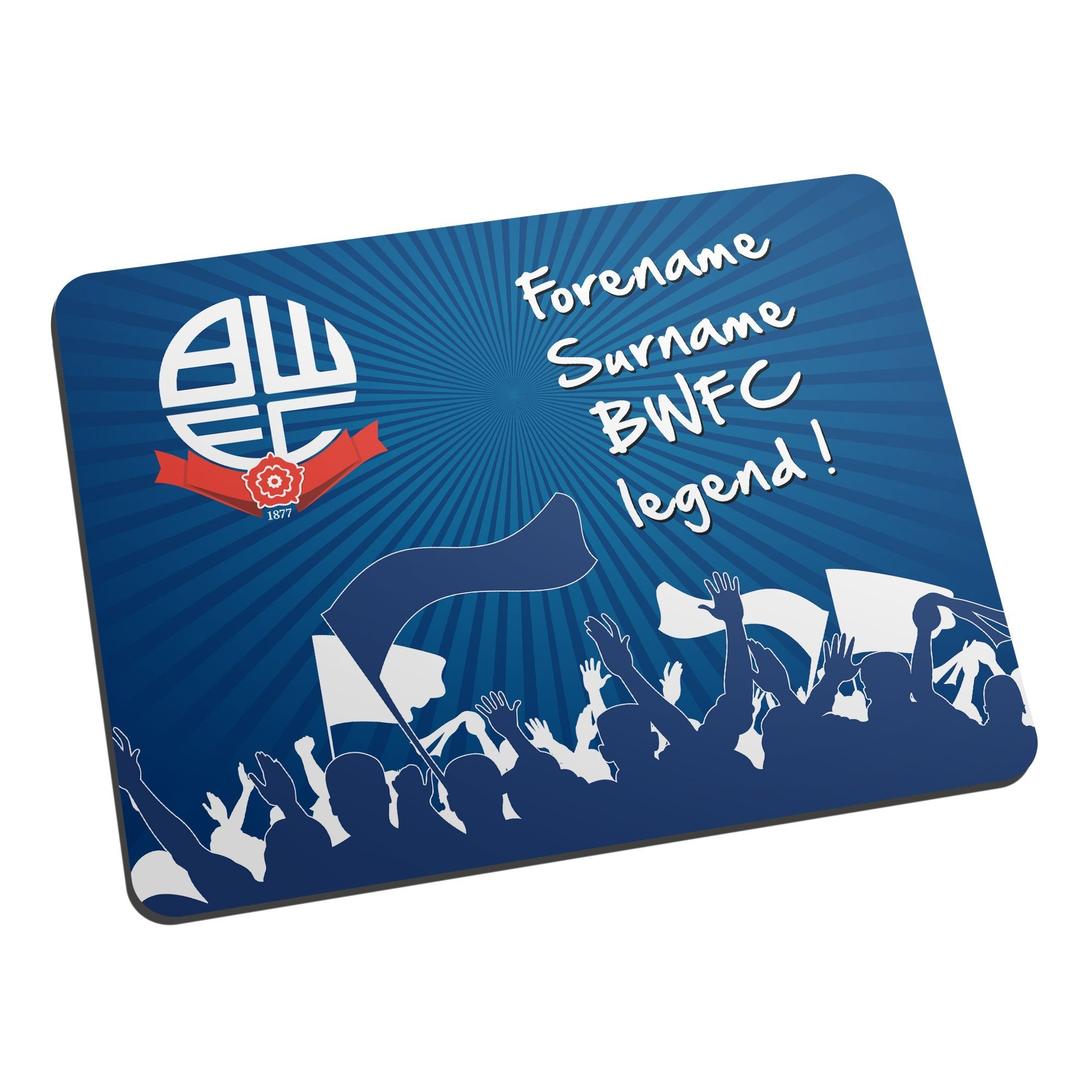 Personalised Bolton Wanderers FC Legend Mouse Mat, Electronics by Glamorous Gifts