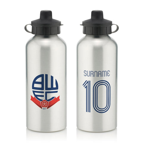 Bolton Wanderers Retro Shirt Water Bottle - Official Merchandise Gifts