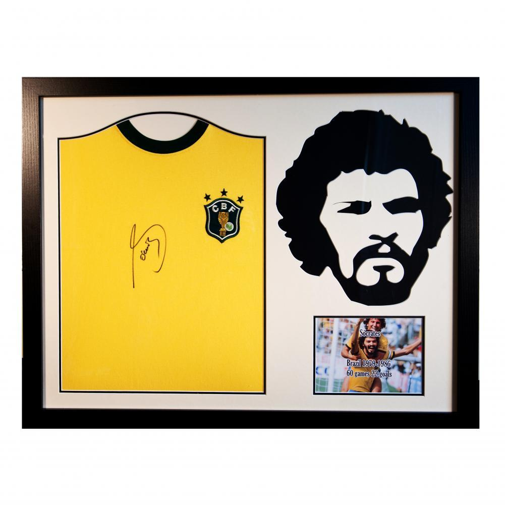 Brasil Socrates Signed Shirt Silhouette, Collectables by Glamorous Gifts