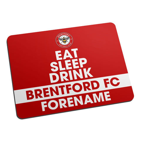 Brentford FC Eat Sleep Drink Mouse Mat - Official Merchandise Gifts