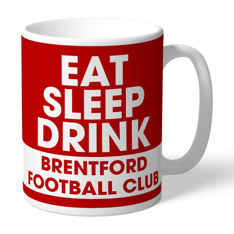 Brentford FC Eat Sleep Drink Mug - Official Merchandise Gifts