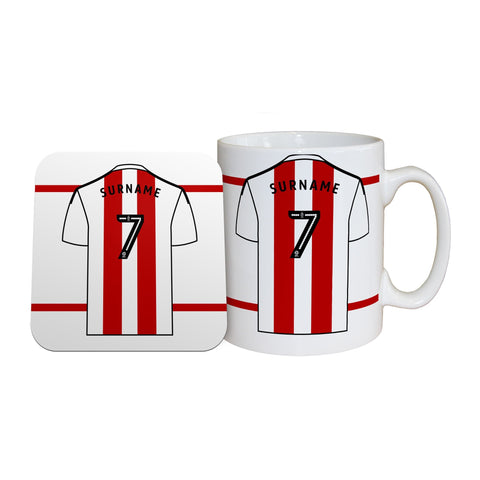 Brentford FC Shirt Mug & Coaster Set - Official Merchandise Gifts