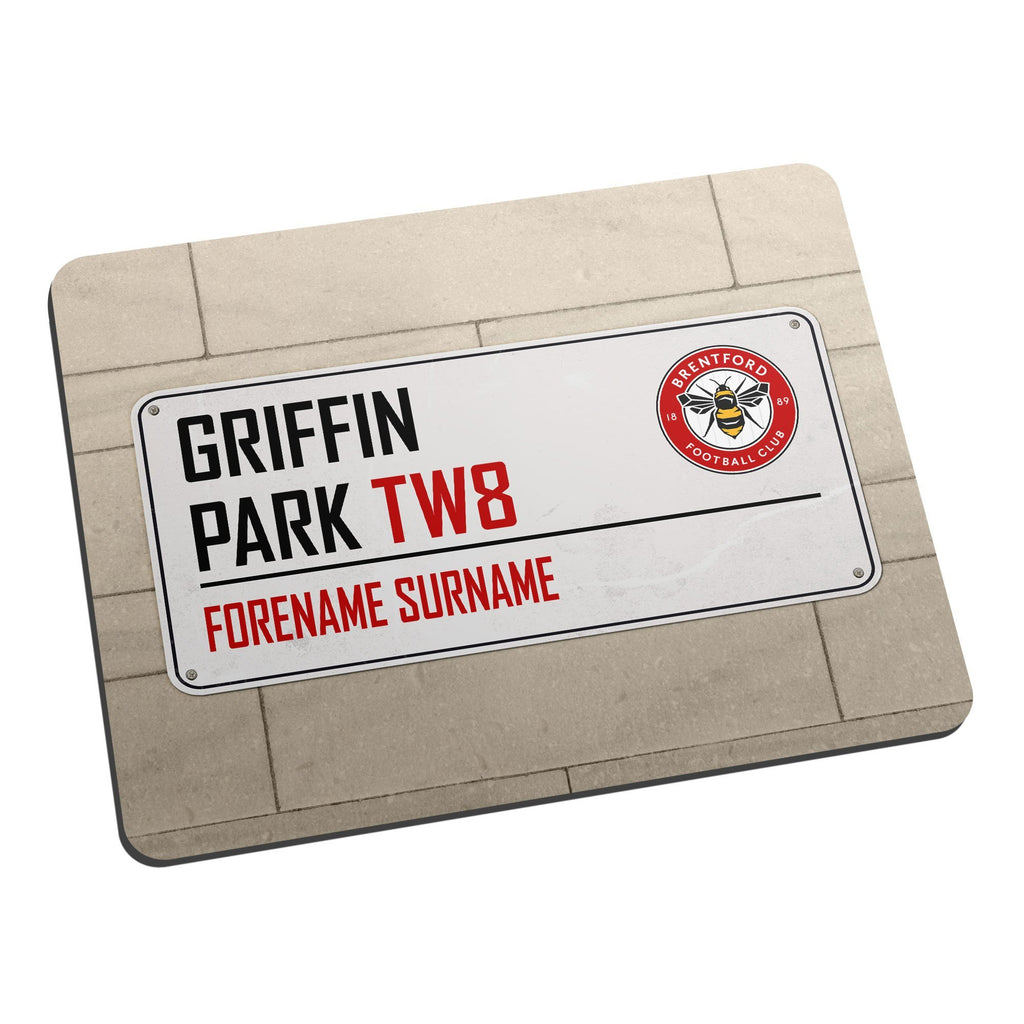 Brentford FC Street Sign Mouse Mat - Official Merchandise Gifts