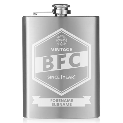 Brentford FC Vintage Hip Flask - Official Merchandise Gifts