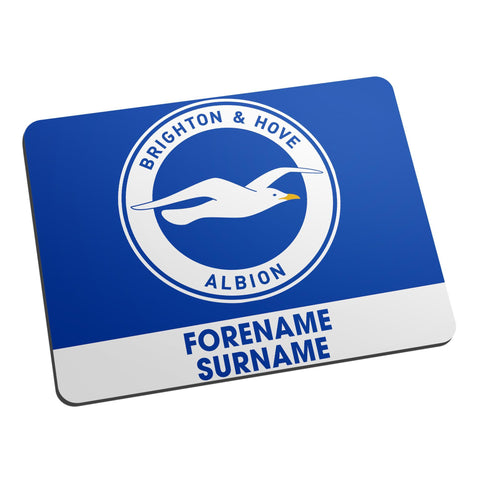 Brighton & Hove Albion FC Bold Crest Mouse Mat - Official Merchandise Gifts