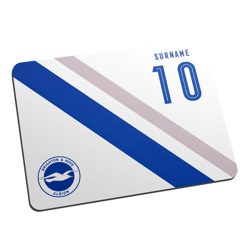 Brighton & Hove Albion FC Stripe Mouse Mat - Official Merchandise Gifts
