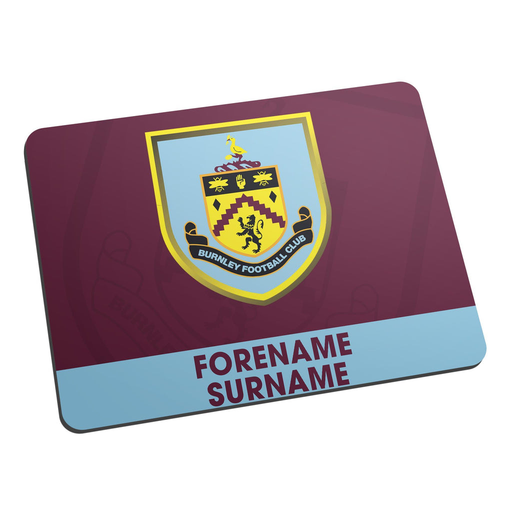 Burnley FC Bold Crest Mouse Mat - Official Merchandise Gifts