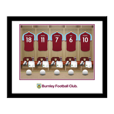 Burnley FC Dressing Room Framed Print - Official Merchandise Gifts