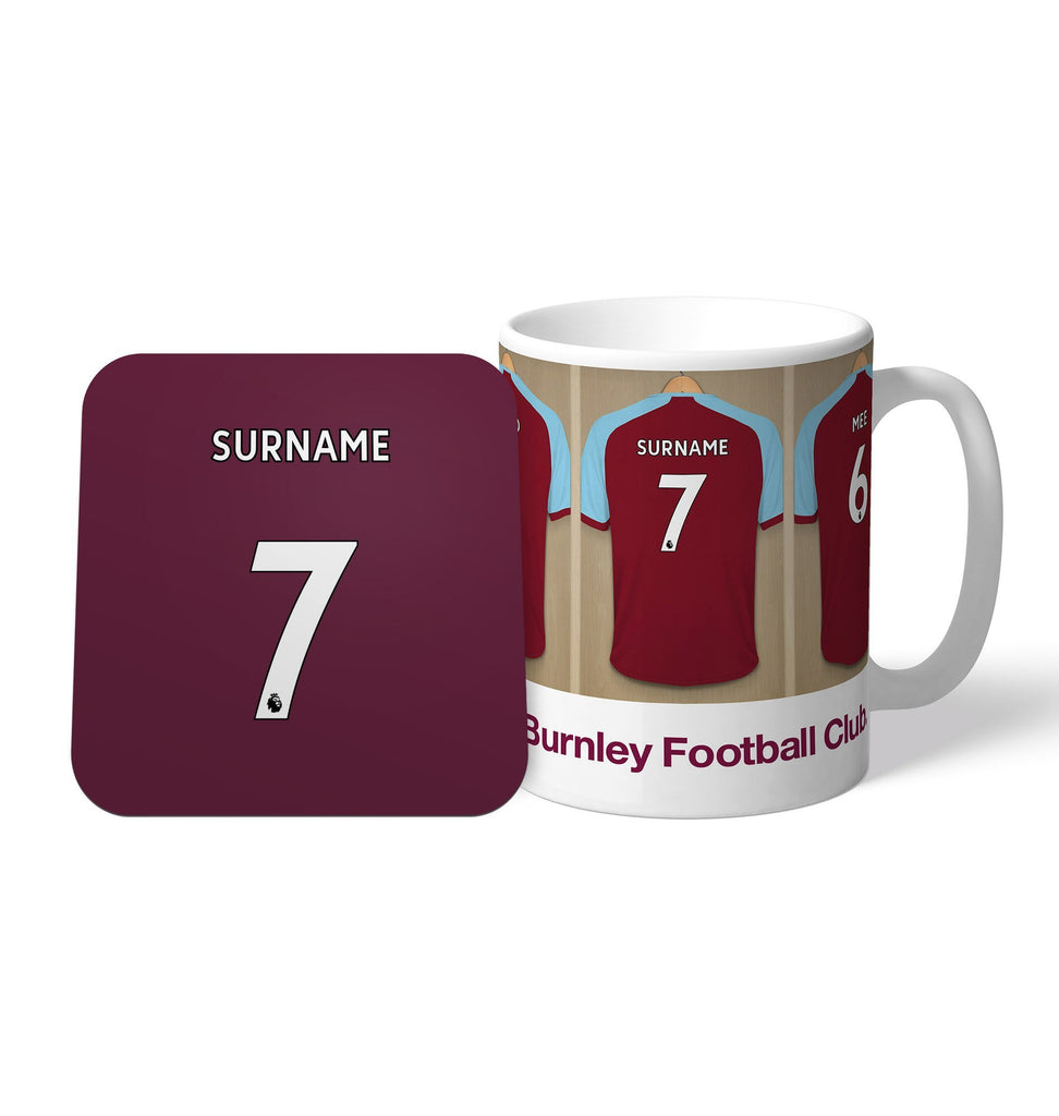 Burnley FC Dressing Room Mug & Coaster Set - Official Merchandise Gifts