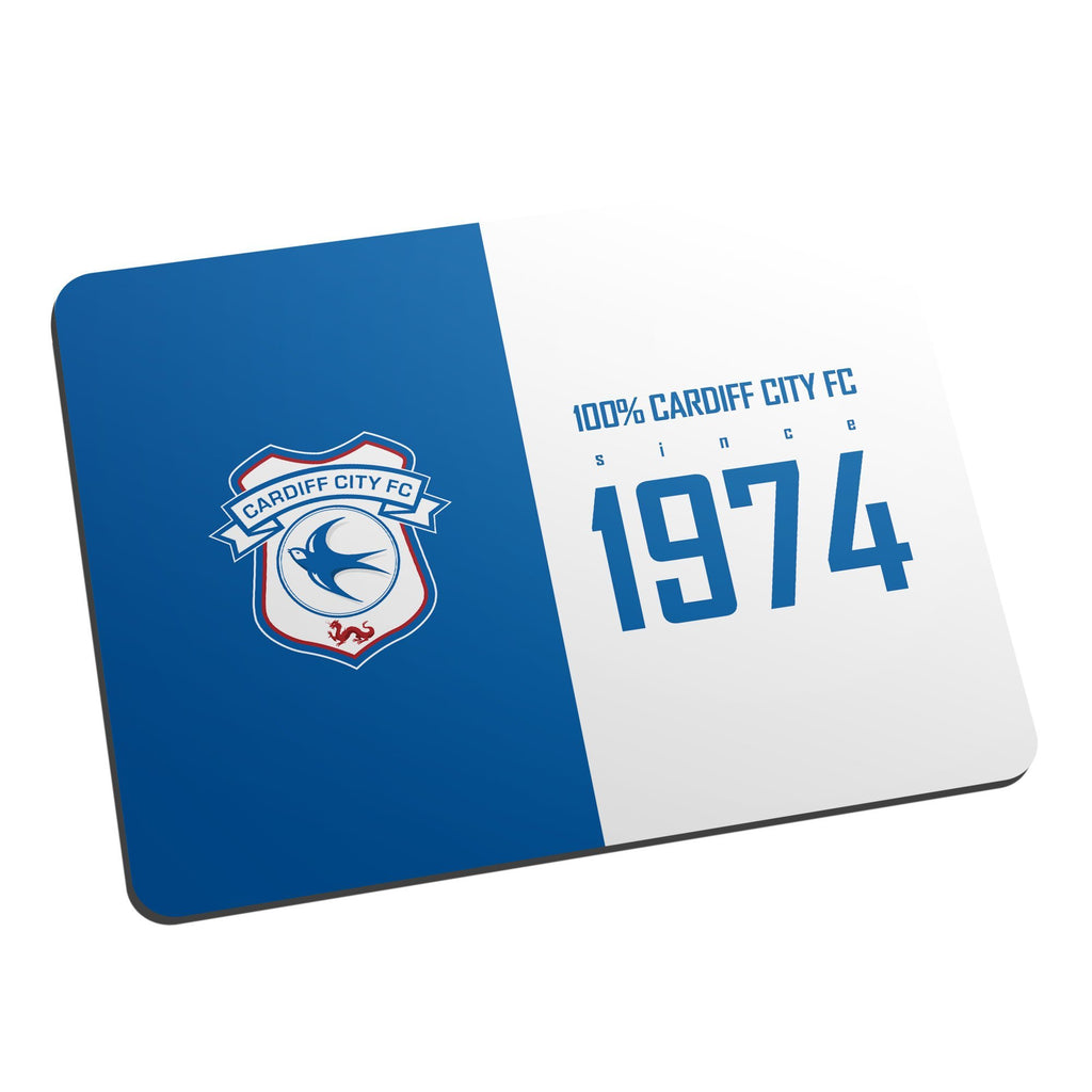 Cardiff City FC 100 Percent Mouse Mat - Official Merchandise Gifts