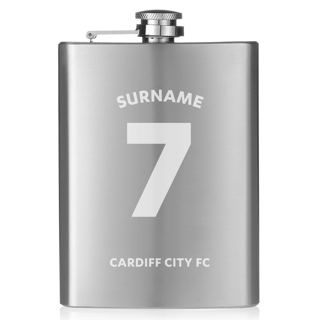 Cardiff City FC Shirt Hip Flask - Official Merchandise Gifts
