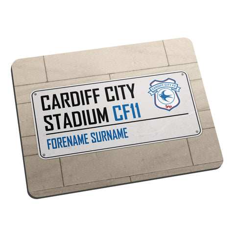 Cardiff City FC Street Sign Mouse Mat - Official Merchandise Gifts