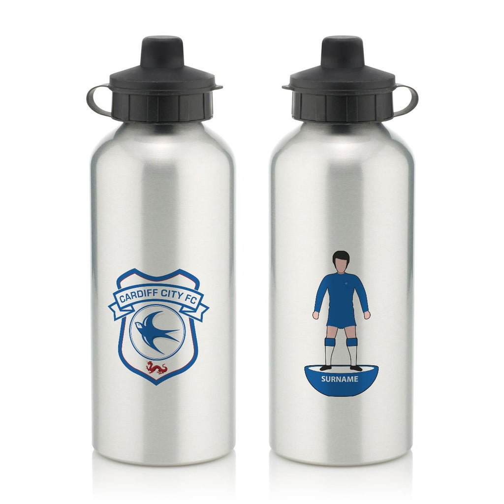 Cardiff City Player Figure Water Bottle - Official Merchandise Gifts